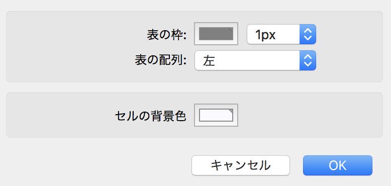Evernote でセルの背景色を変える